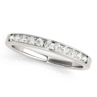 Channel Set Wedding Rings