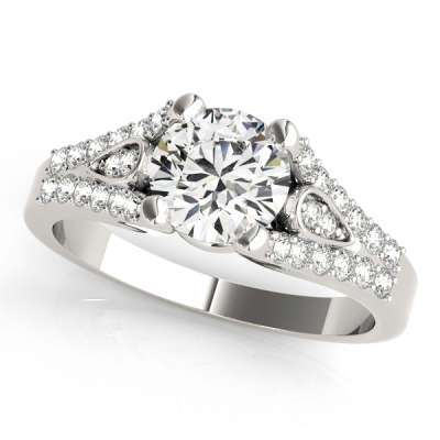 David Stern Jewelers 14kt White Gold MultiRow Engagement Ring 50340-E