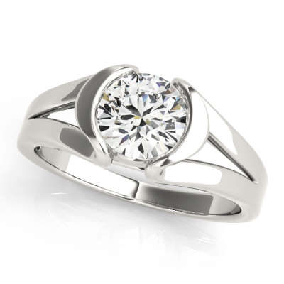 David Stern Jewelers 14kt White Gold Solitaire Engagement Ring 50384-E
