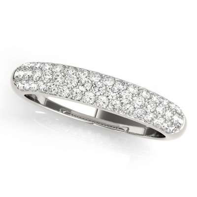 Pave Wedding Rings