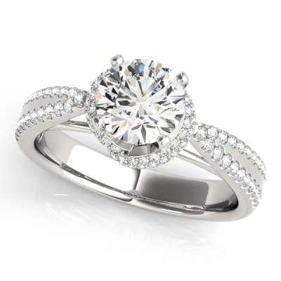 David Stern Jewelers 14kt White Gold MultiRow Engagement Ring 50527-E