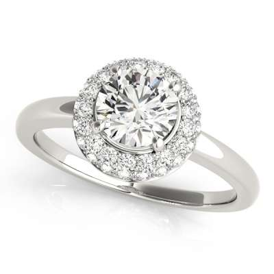 Halo Head Engagement Rings