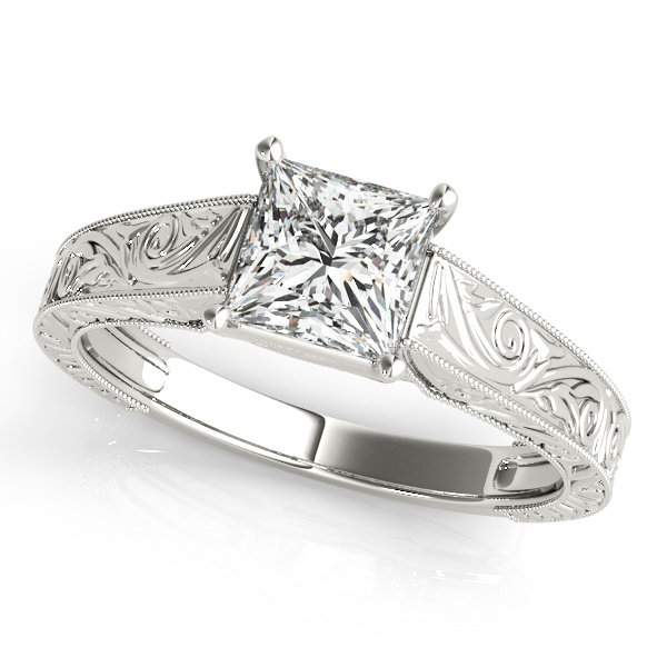 David Stern Jewelers 14kt White Gold Trellis Engagment Ring 50806-E-4.3