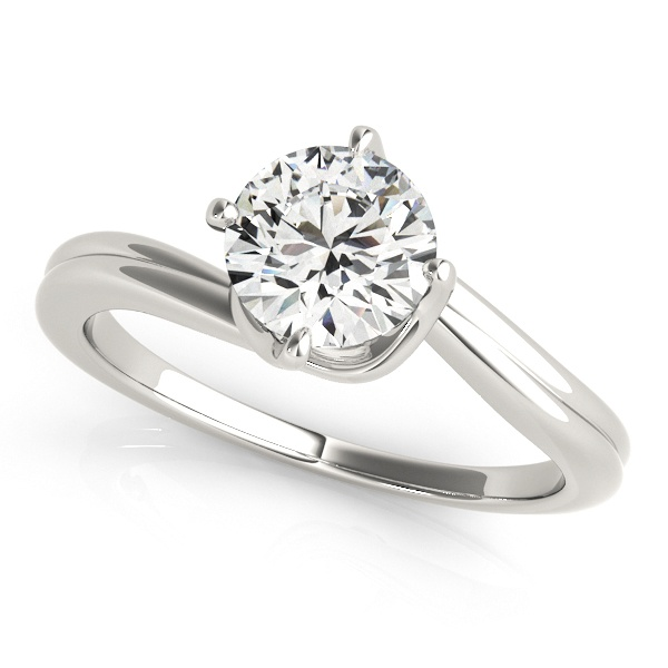 David Stern Jewelers 14kt White Gold Solitaire Engagement Ring 50905-E-1
