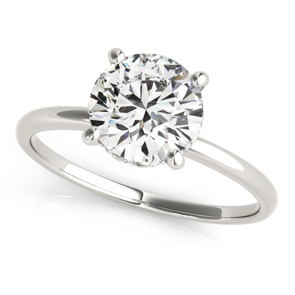 David Stern Jewelers 14kt White Gold Single Row Engagement Ring 50975-E-1