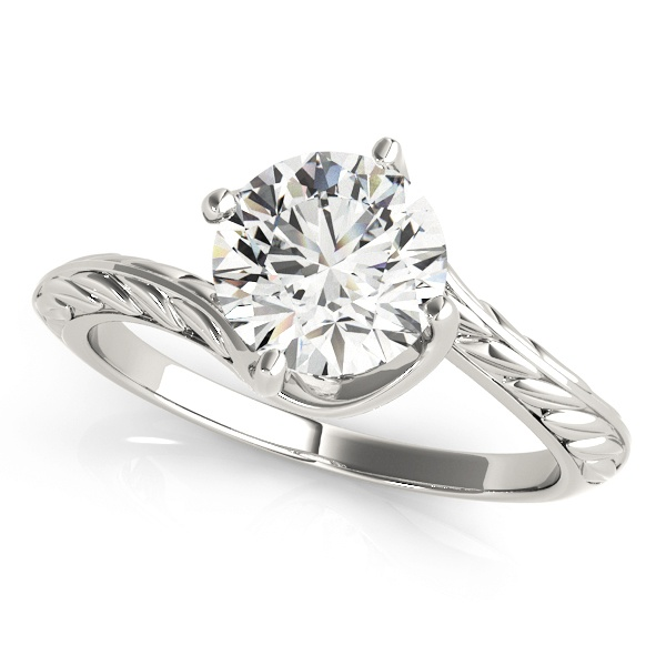 David Stern Jewelers 14kt White Gold Solitaire Engagement Ring 50976-E-1