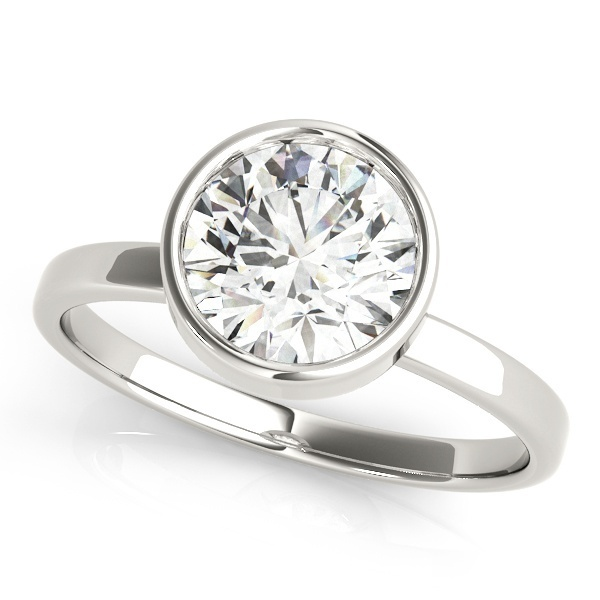 David Stern Jewelers 14kt White Gold Solitaire Engagement Ring 51073-E-1