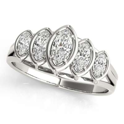 Marquise Wedding Rings