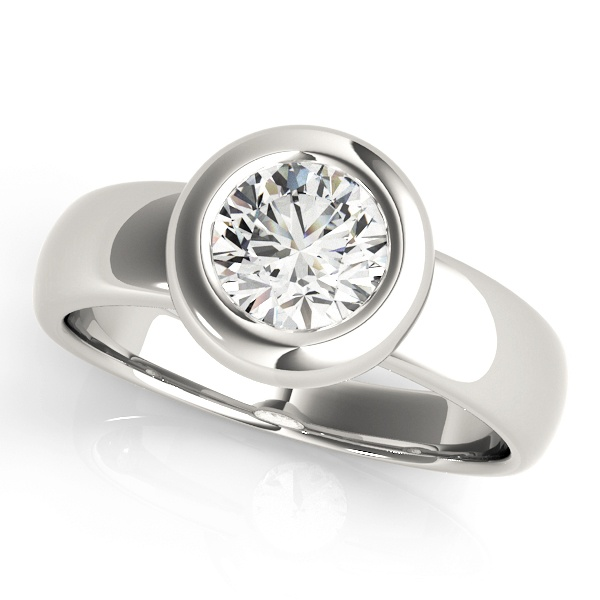 David Stern Jewelers 14kt White Gold Solitaire Engagement Ring 81743-3/4