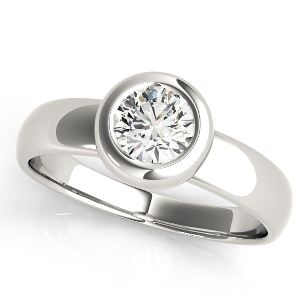 David Stern Jewelers 14kt White Gold Solitaire Engagement Ring 81752-3/4