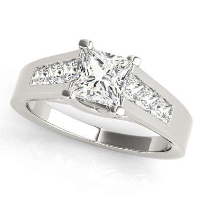 David Stern Jewelers 14kt White Gold Trellis Engagment Ring 82075