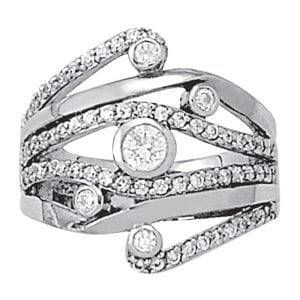 David Stern Jewelers 14kt White Gold 1 ct tw Ring