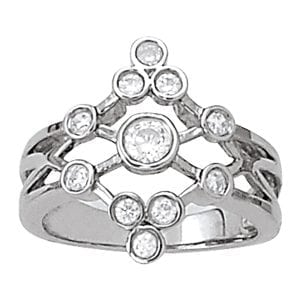 David Stern Jewelers 14kt White Gold 5/8 ct tw Ring