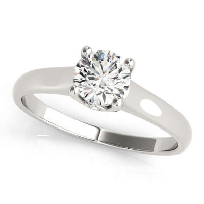 David Stern Jewelers 14kt White Gold Solitaire Engagement Ring 82736-1/2