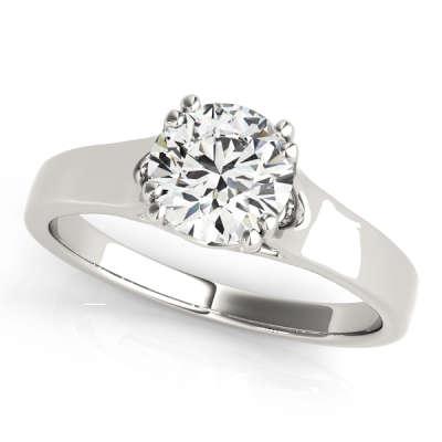 David Stern Jewelers 14kt White Gold Trellis Engagment Ring 82887-3/4