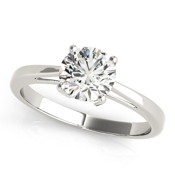 David Stern Jewelers 14kt White Gold Solitaire Engagement Ring 82892-1/2