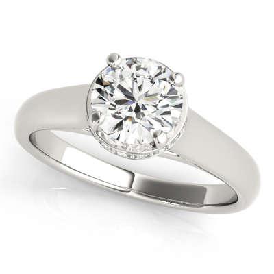 David Stern Jewelers 14kt White Gold Trellis Engagment Ring 82960-1