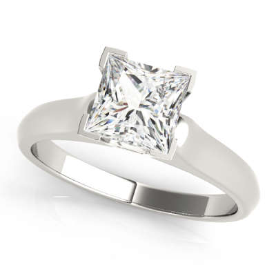 David Stern Jewelers 14kt White Gold Solitaire Engagement Ring 82963-3/4