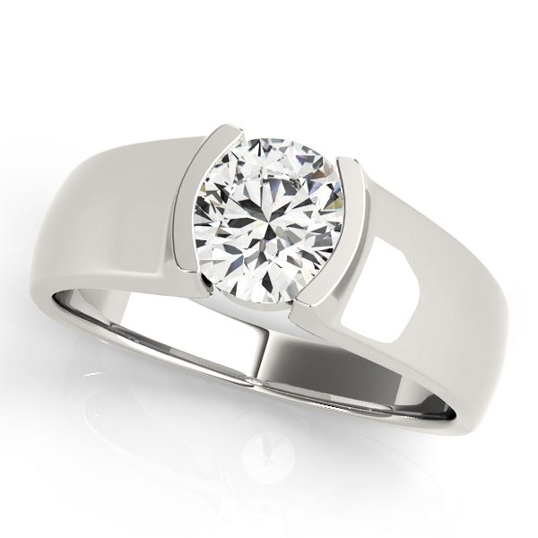 David Stern Jewelers 14kt White Gold Solitaire Engagement Ring 83242