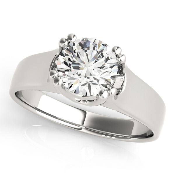 David Stern Jewelers 14kt White Gold Solitaire Engagement Ring 83275-1/2