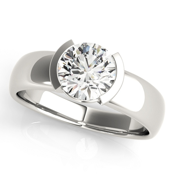 David Stern Jewelers 14kt White Gold Solitaire Engagement Ring 83277-1