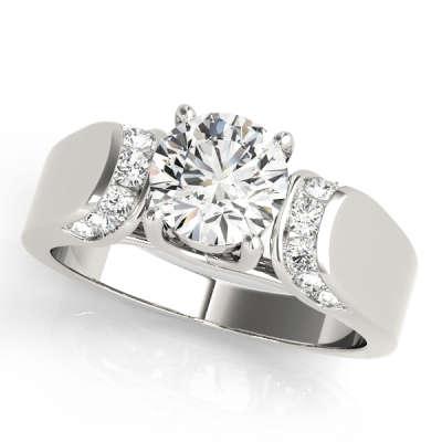 David Stern Jewelers 14kt White Gold Trellis Engagment Ring 83279-1