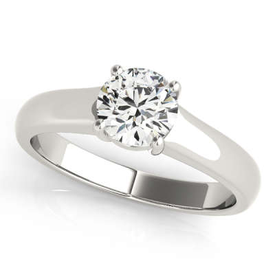 David Stern Jewelers 14kt White Gold Solitaire Engagement Ring 83335-1