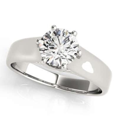 David Stern Jewelers 14kt White Gold Trellis Engagment Ring 83344-1