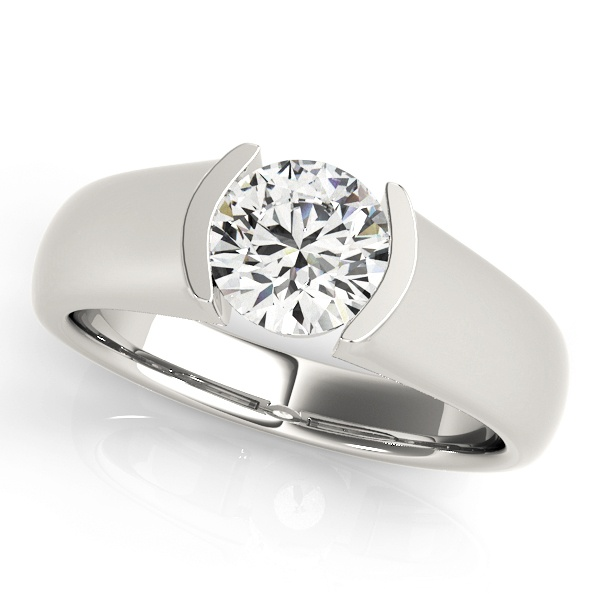 David Stern Jewelers 14kt White Gold Solitaire Engagement Ring 83525-1
