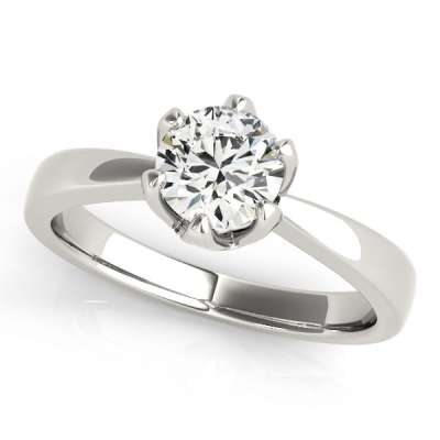 David Stern Jewelers 14kt White Gold Solitaire Engagement Ring 83723