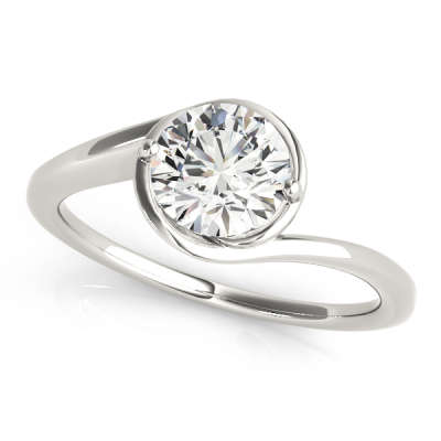 David Stern Jewelers 14kt White Gold Solitaire Engagement Ring 83748-1