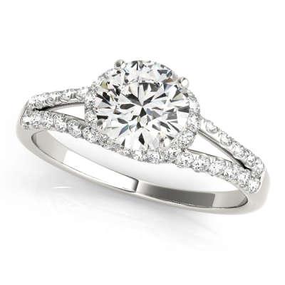 David Stern Jewelers 14kt White Gold MultiRow Engagement Ring 83904