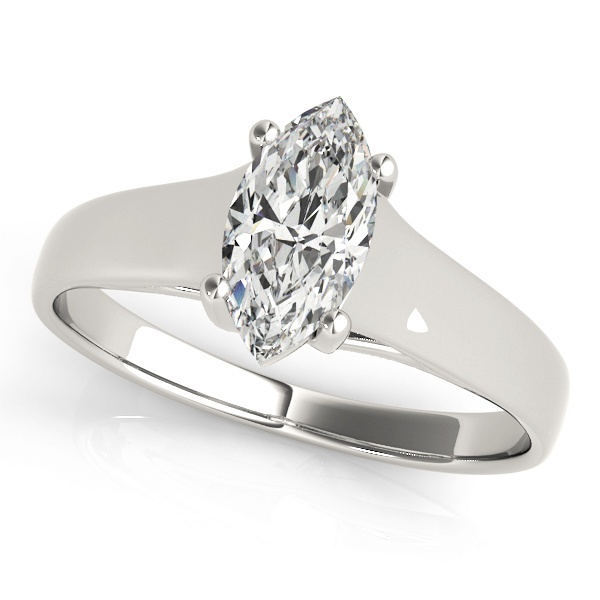 David Stern Jewelers 14kt White Gold Solitaire Engagement Ring 83957-8X4
