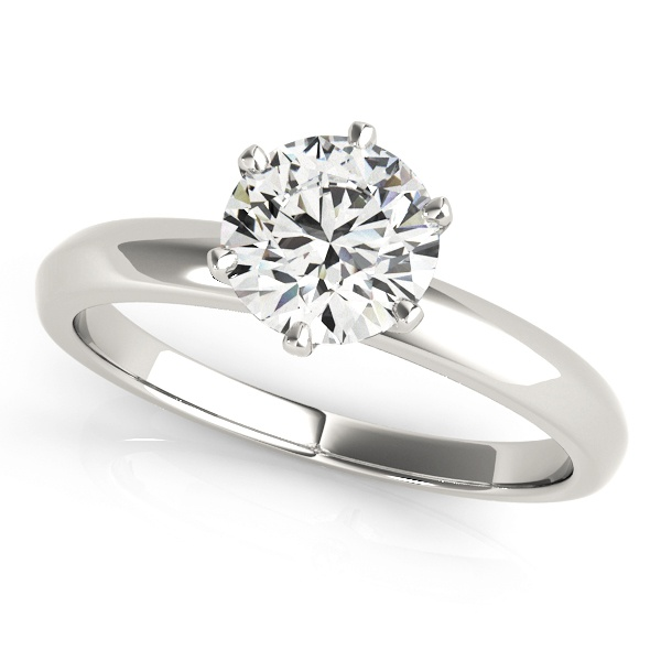 David Stern Jewelers 14kt White Gold Solitaire Engagement Ring 83960-1