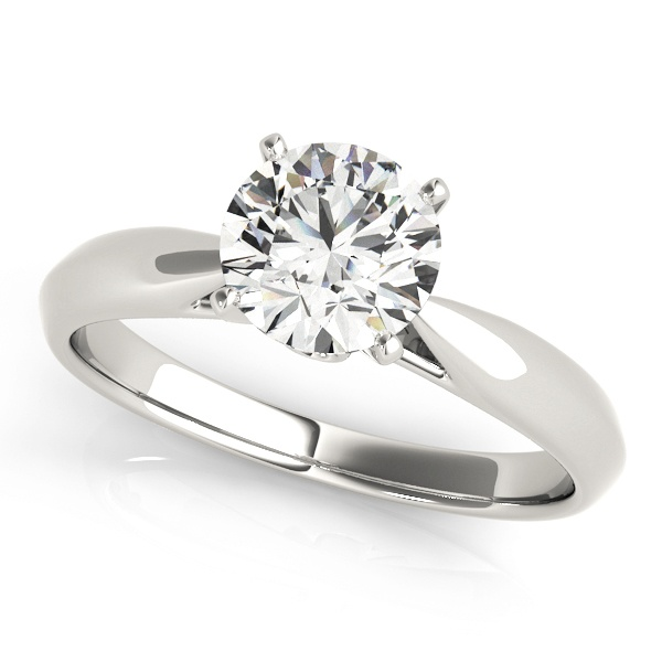 David Stern Jewelers 14kt White Gold Solitaire Engagement Ring 84355-1