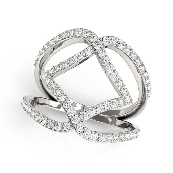 David Stern Jewelers 14kt White Gold 3/4 ct tw Ring