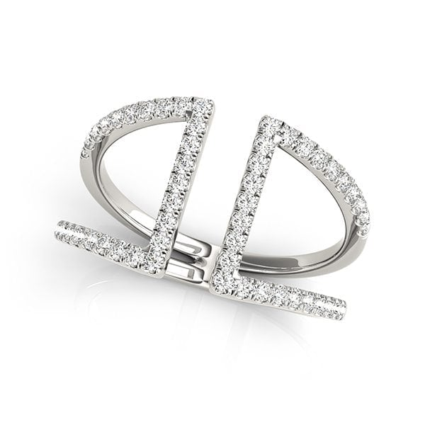 David Stern Jewelers 14kt White Gold 1/2 ct tw Ring