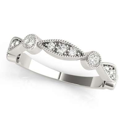 Bezel Set Wedding Rings